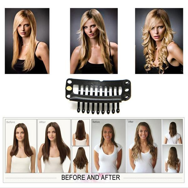 26inch 170g Straight Clip On Natural Hair Synthetic Hair Styling