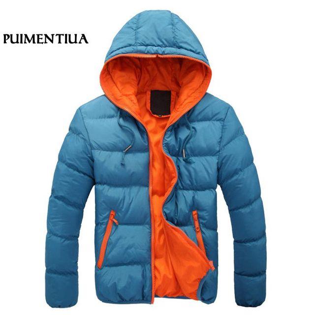 Big Promo Puimentiua Men Casual Hooded Parka 2018 Winter Mens Cotton Slim Fit Coat Thick Warm Homme's Parka Zipper Jacket 3XL