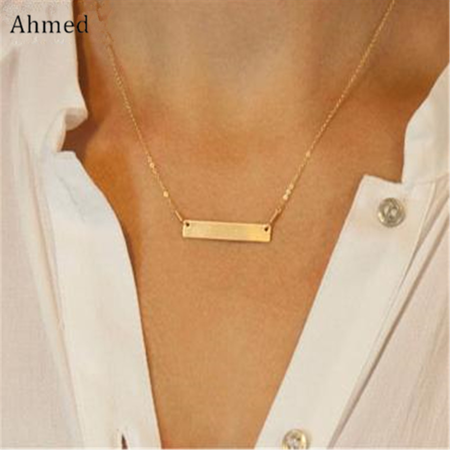 YANA Jewelry 2015 New Cute Short Strip necklace gold Plated Charm Infinity Pendants Necklaces ChainS Wedding Event Jewelry gIFT