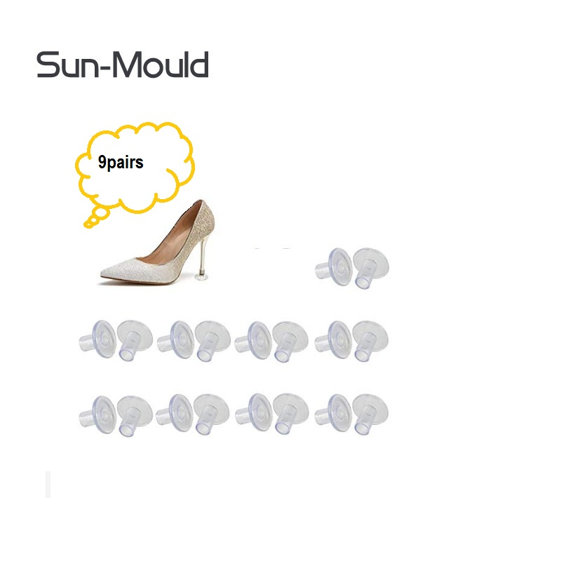 9 size High Heel Protector Brand Shoes High Stiletto Heel Protectors Heels Tips Replacement zapatos de mujer tacones 9pairs