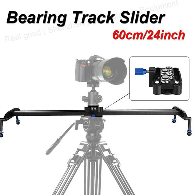 60cm/24 Ball Bearing DSLR Camera Slider Dolly Track Video Stabilizer for Canon Nikon Sony DSLR Camcorder Max Load 17.7lbs/8kg new professional 60cm 24 bearing video track slider dolly stabilizer system for dslr camera camcorder better than sliding pad