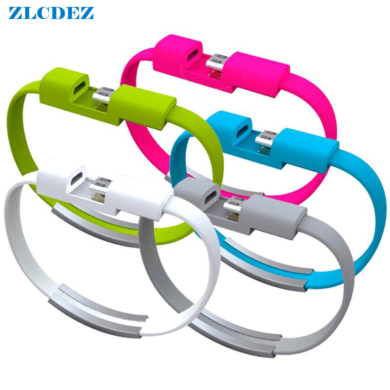 22cm IOS 8Pin Bracelet Hand Wrist Data Sync Charger Charging USB Cable for iPhone 7 7plus