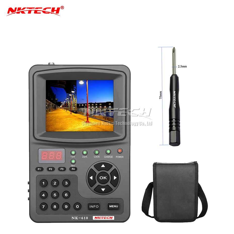 NKTECH HD Digital Satellite TV Signal Finder NK-610 CCTV Camera Monitor Tester Analog Cameras Video Audio Test 1080P 3.5