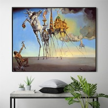 Salvador Dali Classic Artwork Posters and Prints Wall art Decorative Picture Canvas Painting For Living Room Home Decor Unframed predator movie figure artwork posters and prints wall art decorative picture canvas painting for living room home decor unframed
