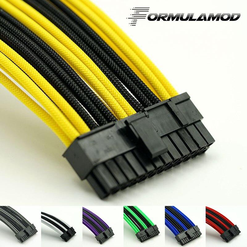 FormulaMod ATX 24Pin Motherboard Power Verlängerung Kabel 18AWG 24Pin Verlängerung Kabel für wasser kühlung computer FMATX24P-C