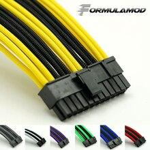 FormulaMod Fm-ATX24P-C, ATX 24Pin материнская плата удлинительные кабели, 18AWG 24Pin многоцветные подходящие удлинительные кабели