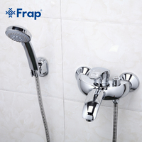Frap New Arrival 1 Set Classic Shower Set Single Handle Solid Brass Bathroom Faucet Shower Tap