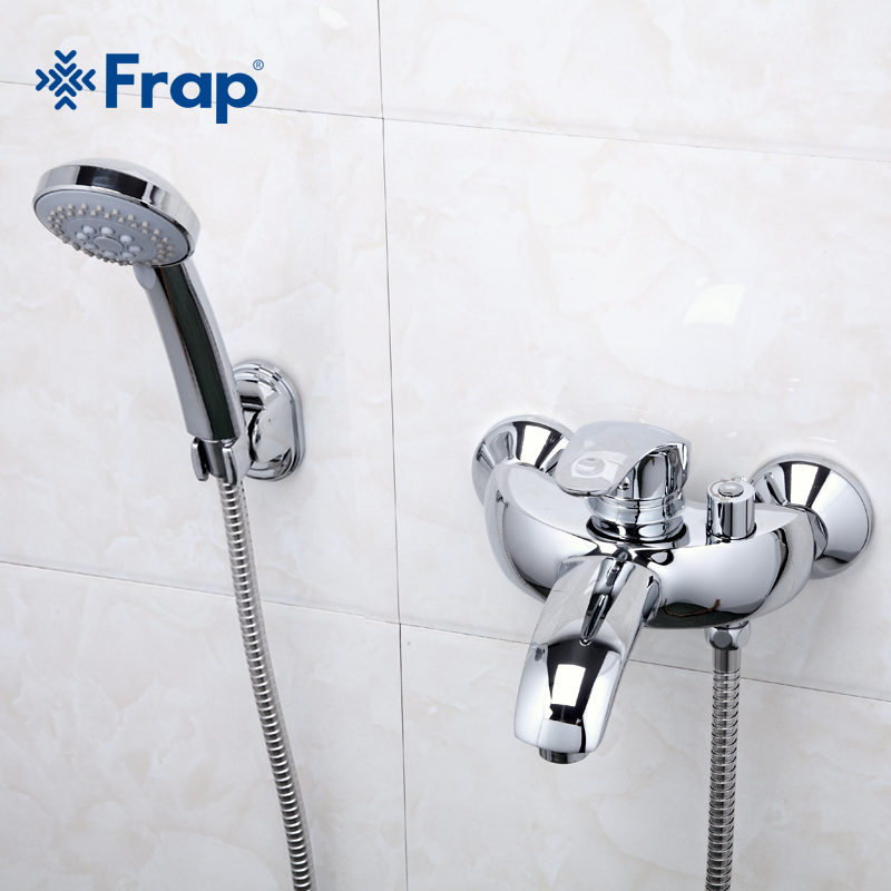 Frap New Arrival 1 Set Classic Shower Set Single Handle Solid Brass Bathroom Faucet Shower Tap Cold and Hot Water Mixer F3221 frap new arrival single handle bathroom mixer 35cm stainless steel long nose outlet brass shower faucet f2281