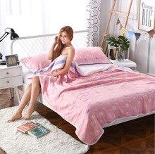 J pinno супер мягкие розовые летние шесть слоев марли из чистого хлопка 100% подростка взрослых плед Размер кровать 200*230 см