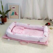 Многофункциональная Складная бионическая кровать с защитой от давления для новорожденных, детская кроватка, кровать-экспонат с Бампером для сна