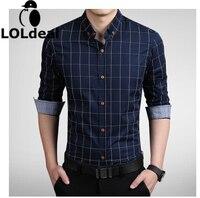 الرجال الموضة الجديدة ضئيلة الأعمال عارضة قميص منقوشة قميص الطباعة 7 اللون اختيار