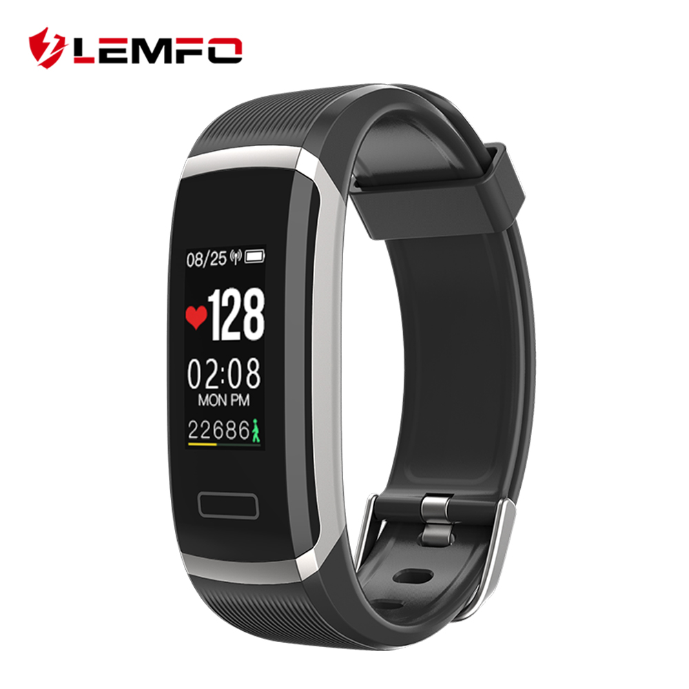 LEMFO Smart Bracelet Sport Watch Heart Rate Monitor Pedometer Fitness Tracker Compatible IOS Android For Men Women