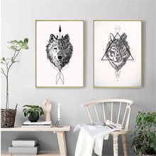 Native Indian Wolf Canvas Art Print Painting Poster Wall Pictures For Living Room Home Decorative Bedroom Decor No Frame цена в Москве и Питере