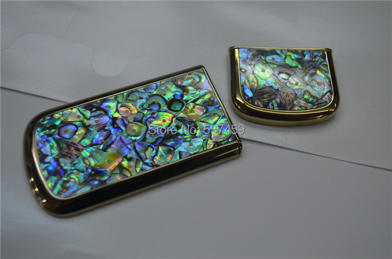 Original Real tuna cover for <font><b>Nokia</b></font> <font><b>8800</b></font> Arte 8800A gold edition abalone cover free shipping image