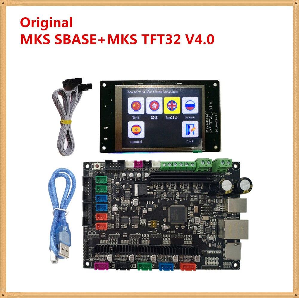 MKS SBASE + MKS TFT32 V4.0 pantalla lcd a color de 3D controlador de impresora de tarjeta de microcontrolador integrado batido de Smoothieware