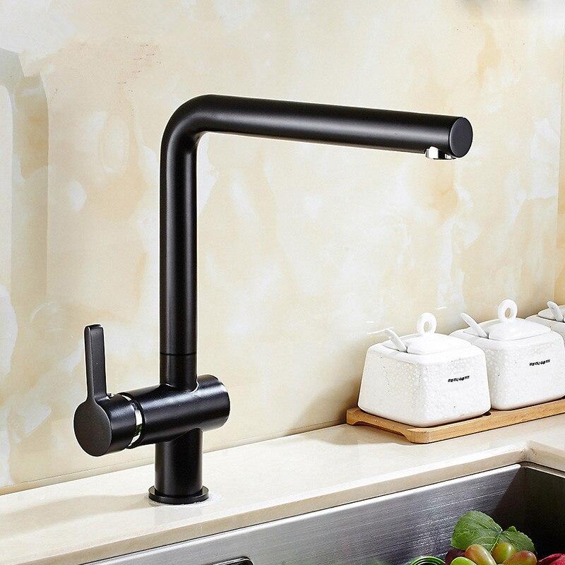 black painted faucet brass kitchen faucet kitchen sink tap 360 rotating black kitchen sink mixer. Interior Design Ideas. Home Design Ideas