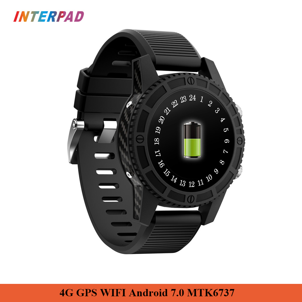 Interpad 4G GPS WIFI montre intelligente Android 7.0 MTK6737 1 GB RAM 16 GB ROM Support WIFI GPS Google jouer cartes Smartwatch pour Xiaomi