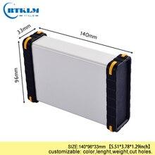 Алюминиевая коробка корпус чехол для электроники DIY Распределительная коробка Алюминиевый Проект корпус динамика diy инструмент чехол 140*96*33 мм