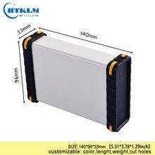 Skrzynka aluminiowa obudowa case dla elektroniki DIY skrzynka przyłączowa aluminiowa obudowa głośnika obudowa przyrządu DIY 140*96*33mm
