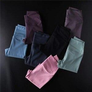 Image 5 - Shinхорошо 2,0 мягкие обнаженные спортивные брюки для фитнеса Cpari женские Четырехсторонние Эластичные Спортивные укороченные колготки для йоги