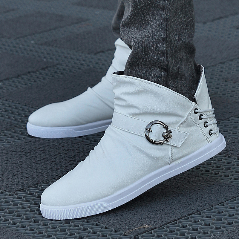Aliexpress.com Comprar Botas altas botas martin men \u0027 s botas blancas de  moda masculina botas de cuero de boots boots and more boots fiable  proveedores en
