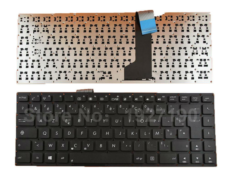 FR French <font><b>Keyboard</b></font> Laptop for <font><b>ASUS</b></font> K46 K46CA K46C <font><b>K46CM</b></font> BLACK Win8 Azerty Laptop <font><b>Keyboards</b></font> Replacement image