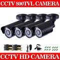 Главная 600TVL 4 шт./лот CCTV Главная Камеры Системы Безопасности 24 ШТ. Светодиодов Открытый Водонепроницаемый День/Ночь ИК Видеонаблюдения Camaras Комплект