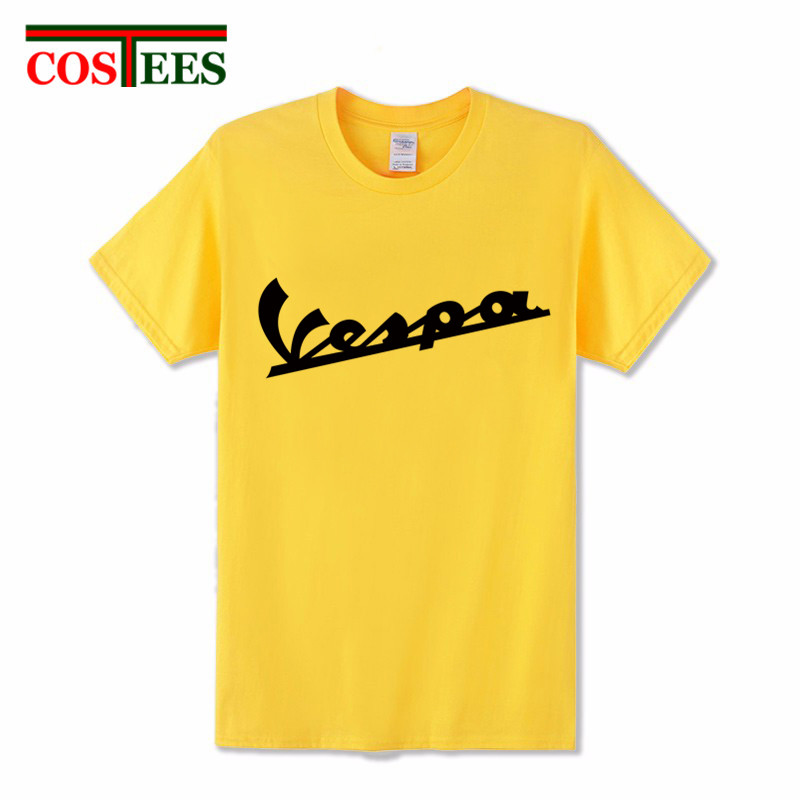 New Summer Fashion Vespa Mod Scooter Men T shirt for Boys Vintage Motorcycle Logo printing Tee Mens Casual Boys Hip Hop apparel