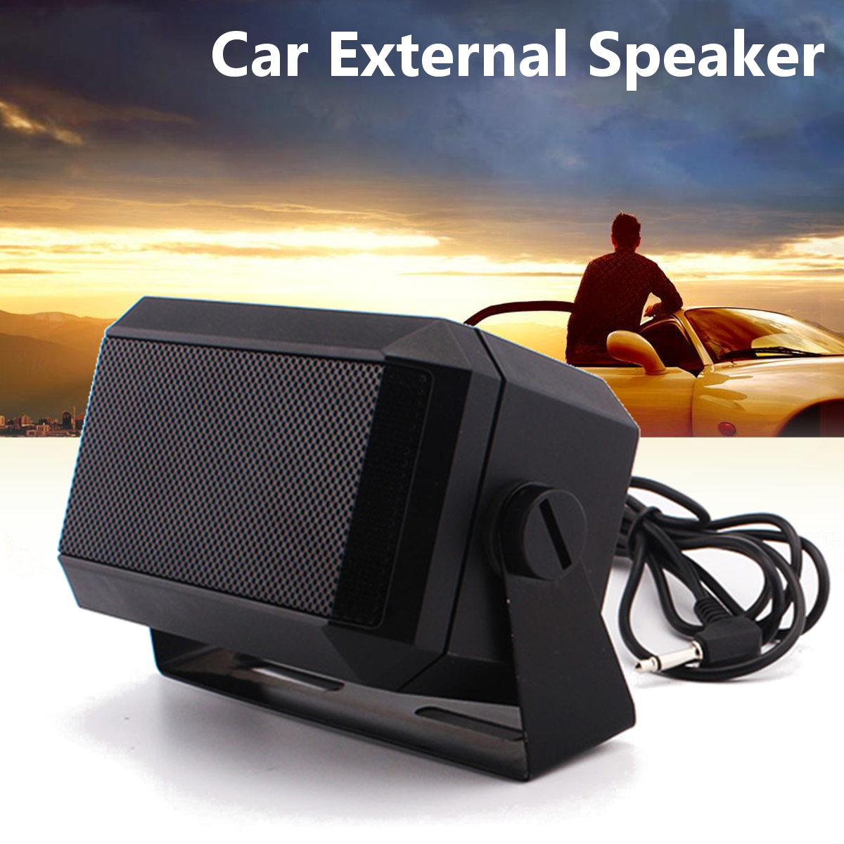 цена Portable Auto External Speaker High-Power Loudspeaker Amplifier Car Radio Intercom For Walkie Talkie Car Mobile Radio Speaker