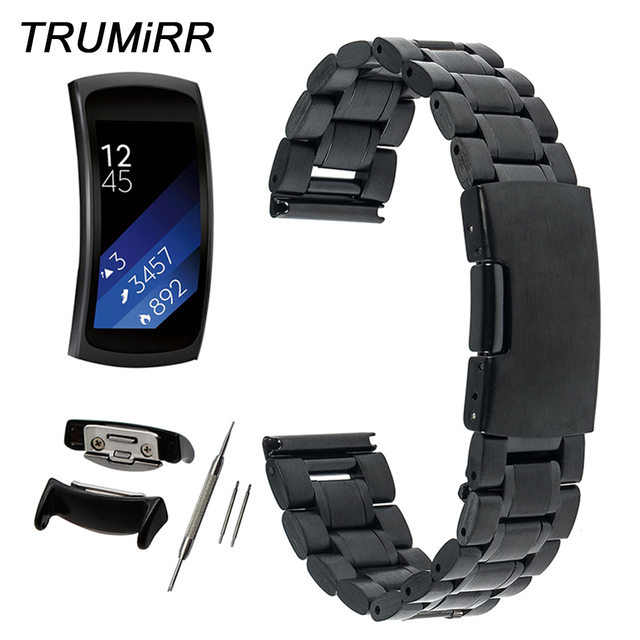 6c61ec4918d 5 ponteiro de Aço Inoxidável Watchband 18mm para Samsung Engrenagem Fit 2  SM-R360 Faixa