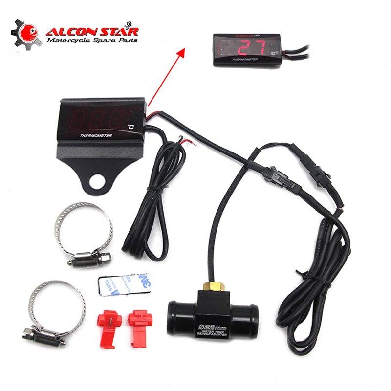 Alconstar que Compete a Motocicleta KOSO Cabeça Plugue do Sensor de Temperatura Da Água Plugue do Sensor de Temperatura Da Água Temperatura Mesa Especial Adaptador