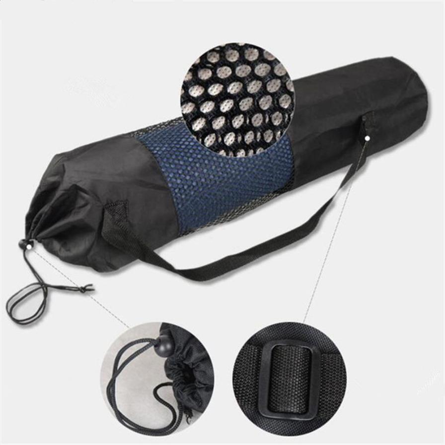 Ropa De Hombre New Fashion Gym Yoga Mat Bag Portable Nylon Carrier Washable Adjustable Strap Carry 60*17cm*6mm Black Shaping Tool