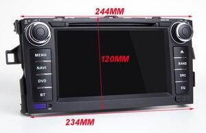 Image 2 - HIRIOT Android 10 автомобильный DVD GPS плеер для TOYOTA AURIS 07 11 Octa 8 Core 4 Гб + 64 ГБ + DSP навигации BT WI FI Мультимедиа Стерео авто