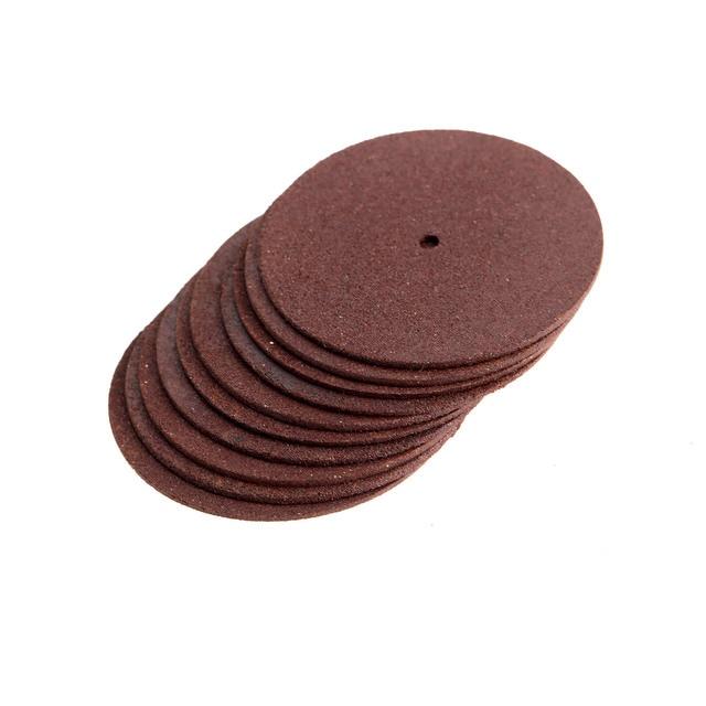 10Pcs Dremel Accessories 38mm Resin Grinding Wheel Mini Circular Saw Cutting Disc Polishing Sanding Discs for Drill Rotary Tool