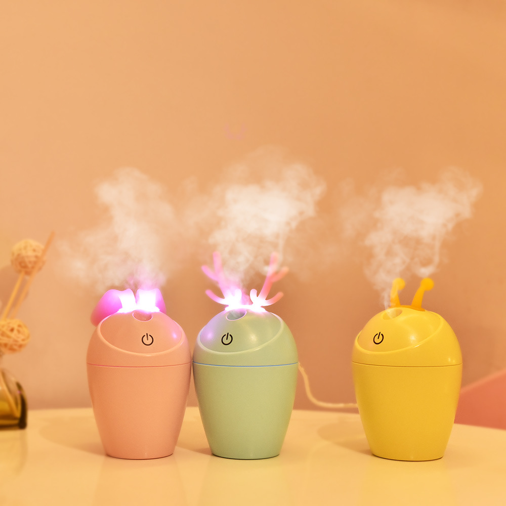 2018 Mini Cartoon Air Humidifier USB Aroma Essential Oil Diffuser Cool Mist Maker LED USB Air Humidifier Aromatherapy For Office original new 100% fader double potentiometer combined assets of black 75mm a20k b20k a50k b50k a100k b100k sc6082gh switch