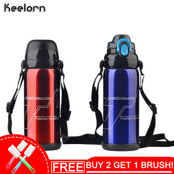 Keelorn 800ml Stainless Steel Insulated Thermos Bottle Thermo Vacuum Flask Large capacity Thermose Coffee Bottles - Category 🛒 Home & Garden