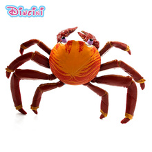 Simulation Marine Sea Life Action Crab Animals Models Figurine PVC figure home decoration accessories decor Gift For Kids toys