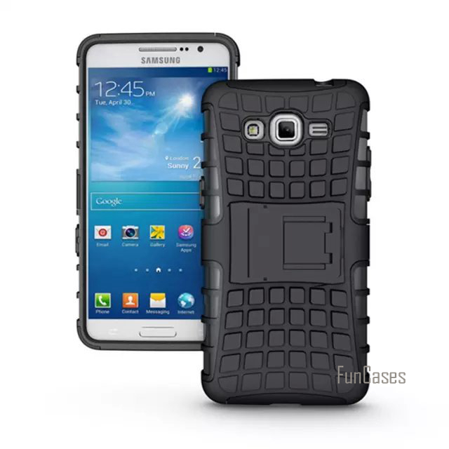 online store fbea2 e0af6 US $6.88 |For Samsung Galaxy Grand Prime G530 G5308 Case High Quality  Hybrid Kickstand Rugged Rubber Armor Hard PC+TPU Stand Function Case-in ...