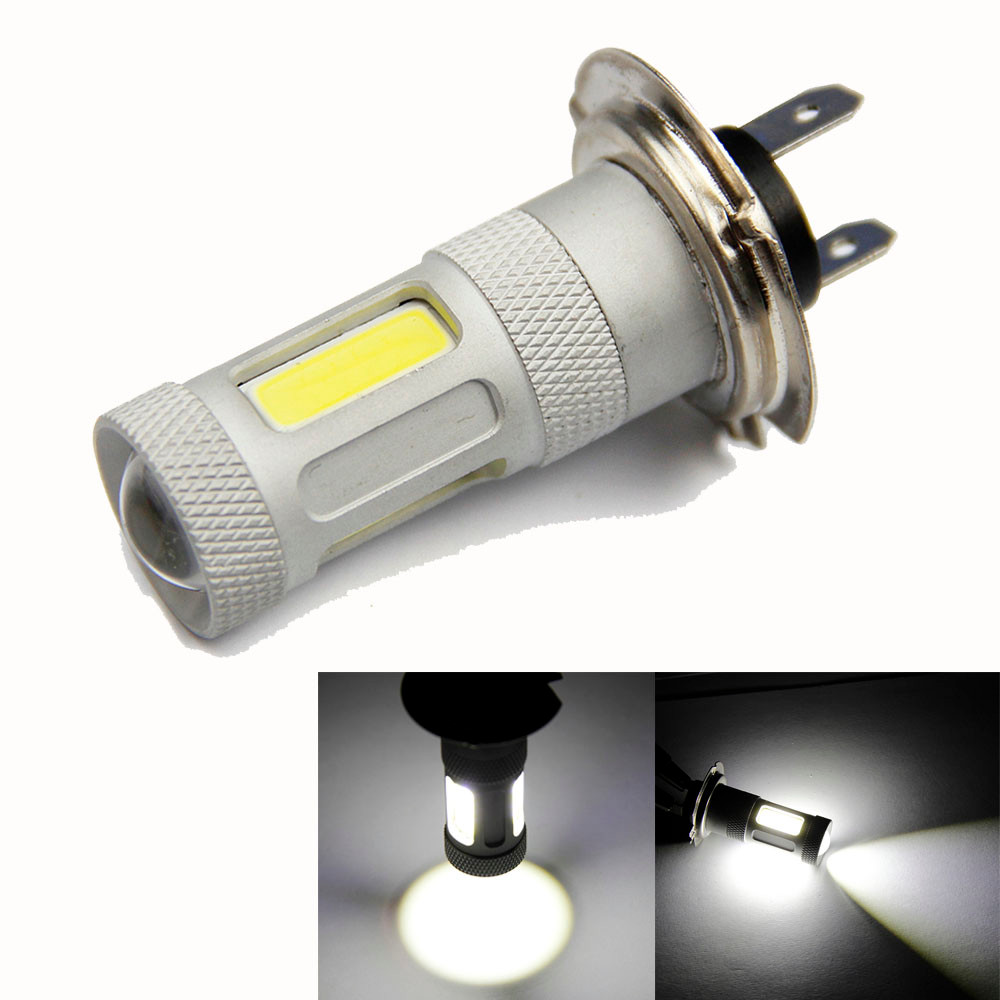Auto Universal H7 80W High Power COB LED Car Auto DRL Driving Fog Tail Headlight Light 12V 24V 6000K 6500K White Lights 2016 new design h7 led cree high power 60w 3600lm 6000k super white headlights fog light led cars kit for bmw honda auto tesla