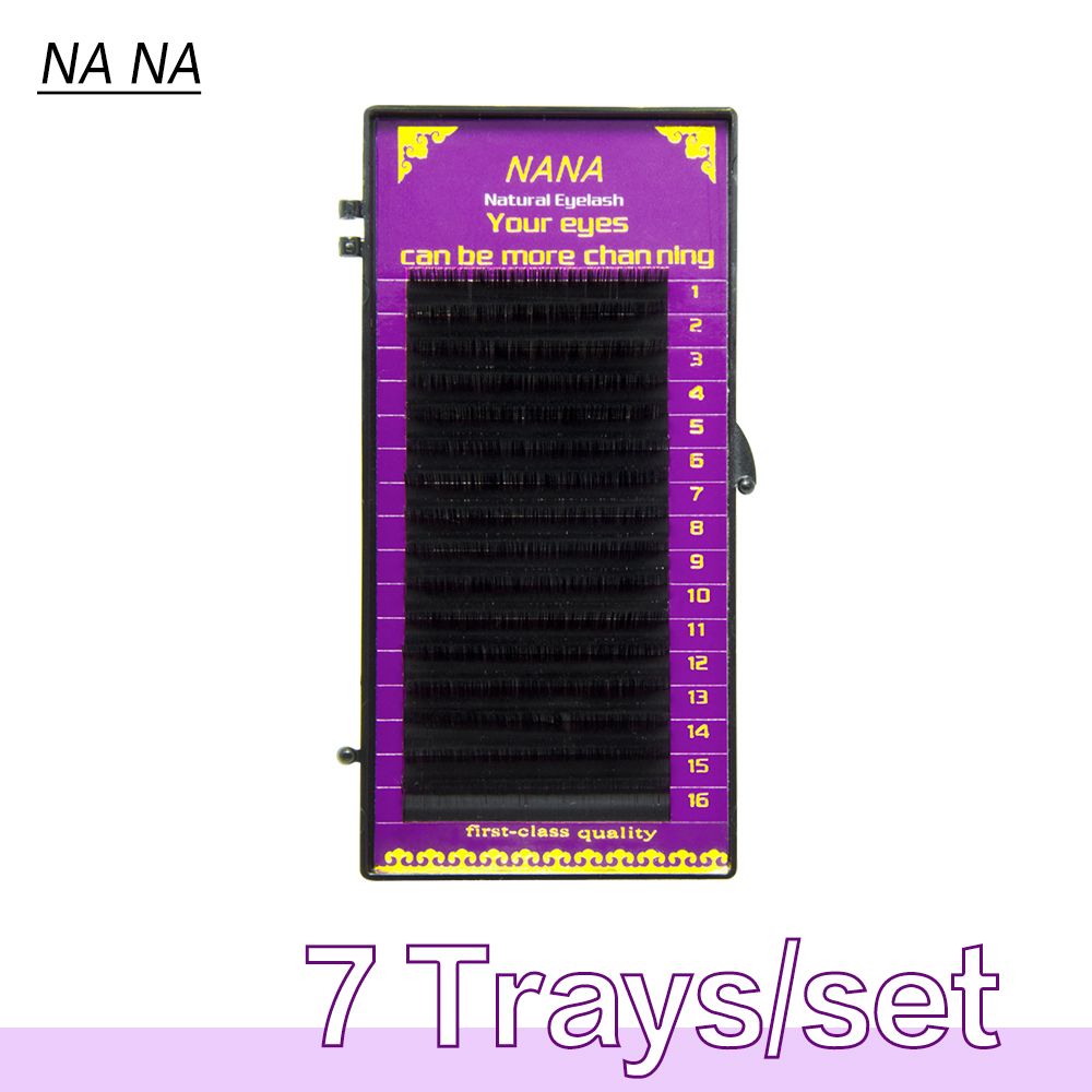 7cases 0.07-0.25 J/B/D/C 7-15mm natural Eyelashes extension, mink eyelashes ndividual eyelash false eyelash
