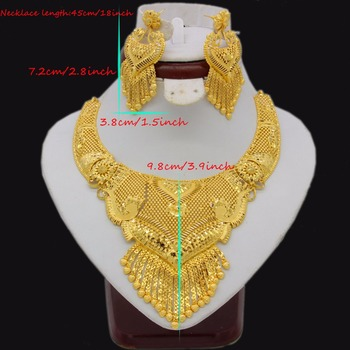 Adixyn Luxury Necklace/Earrings Jewelry Set  1