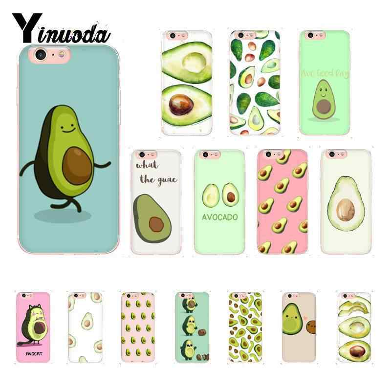 Yinuoda Art Funny Tumblr avocado Soft Silicone Phone Case for iPhone 8 7 6 6S 6Plus X XS MAX 5 5S SE XR 10 Cover