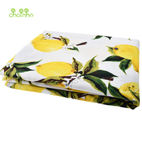 New Arrived Lemon Printed Cotton Poplin Fabric Patchwork For Sewing Cloth Doll Sheet Skirt Dress Material