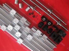 6 компл. S SBR16 300/600/1000 мм + 3 RM1605 350/650/1050 мм + 3 DSG16H гайка держатель + 3 BK/BF12 конец подшипники + 3 муфты для ЧПУ