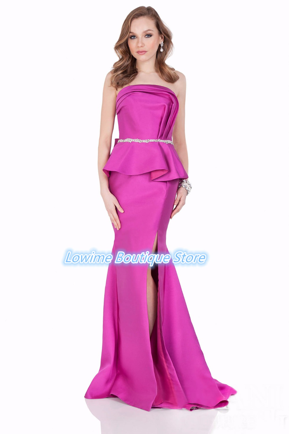 Fuchsia Strapless Dress Promotion-Shop for Promotional Fuchsia ...