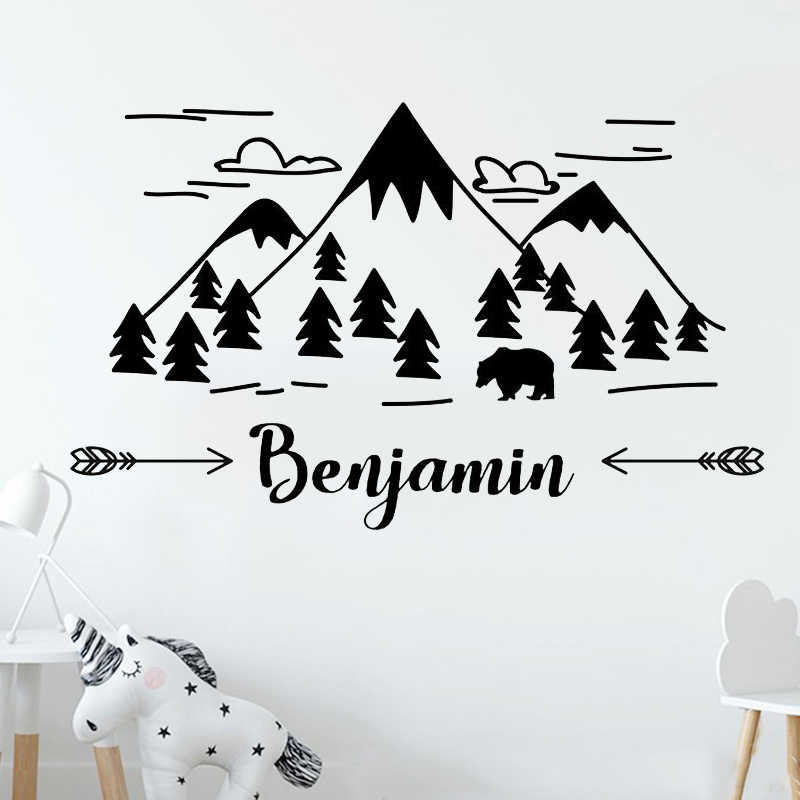 65 40cm Mountain Nursery Wall Decal Art
