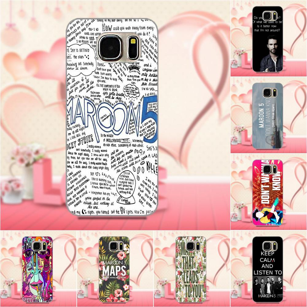 Oedmeb TPU Design Phone For Galaxy A3 A5 A7 J1 J3 J5 J7 S5 S6 S7 S8 S9 edge Plus 2016 2017 Maroon 5 Quote