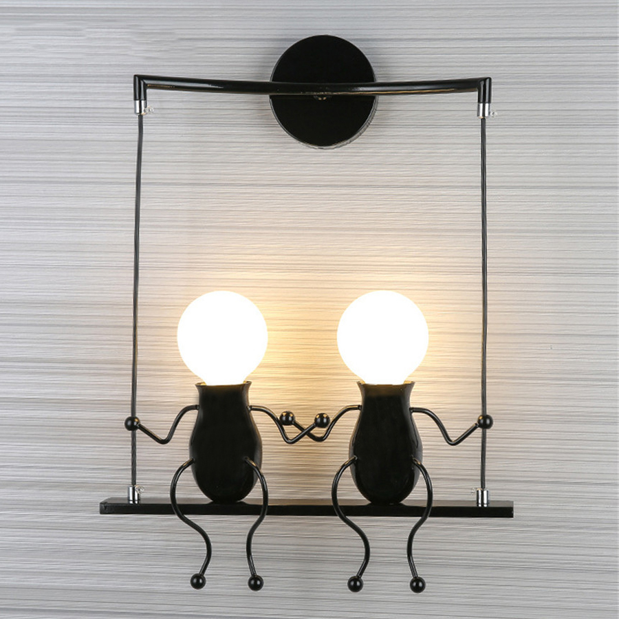 Lights & Lighting Wall Lamp Home Light Bedroom Bedside Children Baby Room Lamp Carton Aisle Corridor Stair Porch Balcony Wall Sconce Bra Led Lamps
