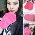 1 Pcs Makeup Remover Glove /Cosmetic Removal Microfiber Rose Red Mitt/The  Upgraded Version of Makeup Remover Towel