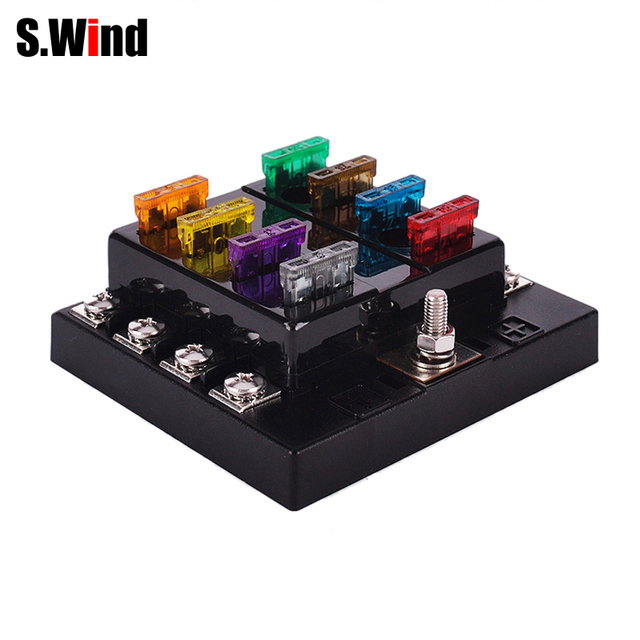 fuse box boat aliexpress com buy 8 way 32v dc circuit car fuse box automotive 8 way 32v dc